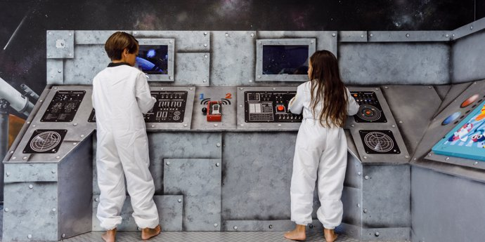 Kinderen voelen zich een échte astronaut