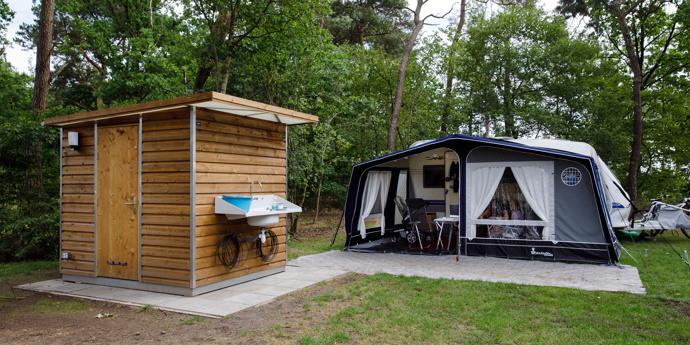 Privé sanitair bij je kampeerplaats