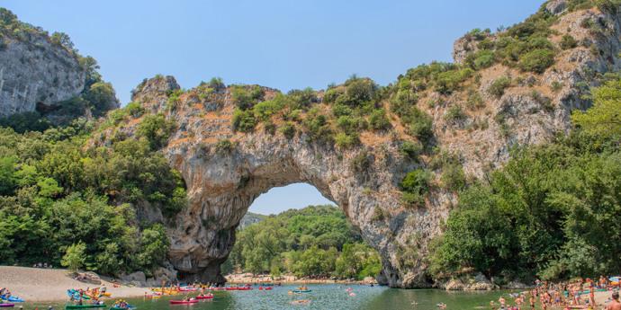Aan de rivier de Ardèche
