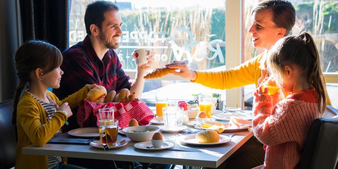 Ontbijt en diner